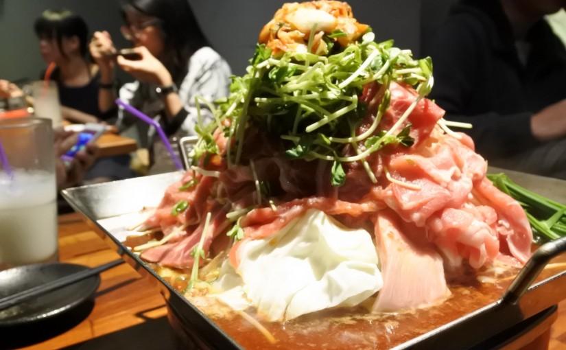 日韓混搭鍋物料理。金太郎平盆鍋